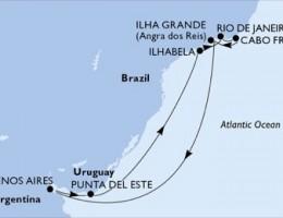 9 Noches por Argentina, Uruguay, Brasil a bordo del MSC Poesia