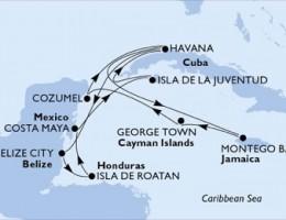 14 Noches por Cuba, Jamaica, Gran Caimán, México, Belice, Honduras a bordo del MSC Armonia