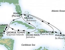 14 Noches por Estados Unidos, Bahamas, Puerto Rico, St. Maarten, Jamaica, Gran Caimán, México a bordo del MSC Seaside