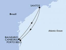 3 Noches por Santos, Portobelo, Santos a bordo del MSC Preziosa