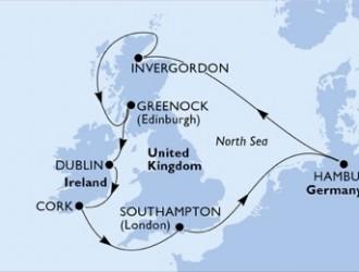 10 Noches por Alemania, Francia, Irlanda a bordo del MSC Preziosa